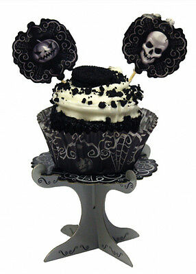 Halloween Gothic Mini Cup Cake Stands Pk4