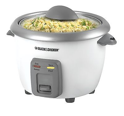 BLACK+DECKER RC3406C 3-Cup Dry/6-Cup Cooked Rice Cooker White