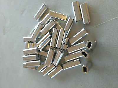 200 x 2.5mm ALLOY CRIMP 18mm LONG QUALITY TERMINAL GAME FISHING TACKLE CRIMPS
