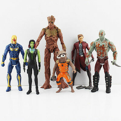 Guardians of the Galaxy Action Figures Star-Lord Groot Rocket Raccoon Gamora