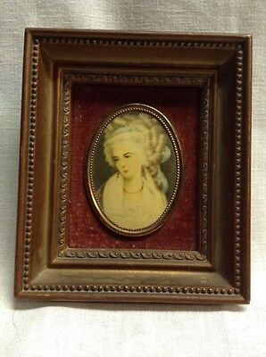 Vintage A Cameo Creation Mrs. Chaplin By George Romney Framed Cameo Picture
