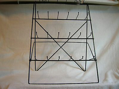 24  Single Peg Easel  Counter Display Rack for Small Items Black NIB