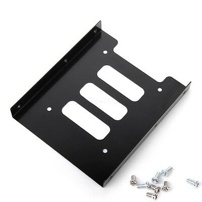 """2.5"""" SSD HDD to 3.5"""" Metal Mounting Adapter Bracket Dock Convert Rack For PC New"""