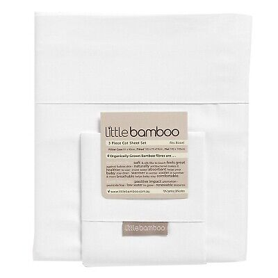 Little Bamboo Baby Bedtime 3 Piece Sheet Set For Cots / Cot Beds