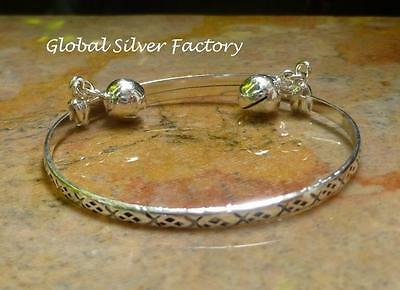 Sterling Silver Tribal Baby Bangle with Bells SBB-438