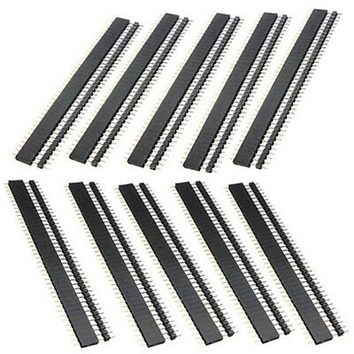10Pairs 2.54mm 1X40 pin header Single row straight male + female for Arduino DIY