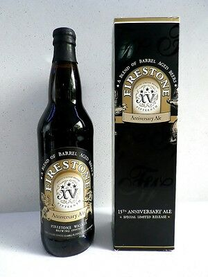Firestone Walker 15th Anniversary Ale Beer. Special Limited release. RARE 12.5%