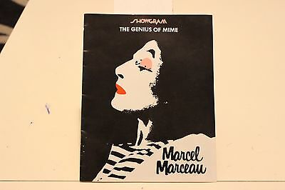 marcel marceau the genius of mime theatre program showgram