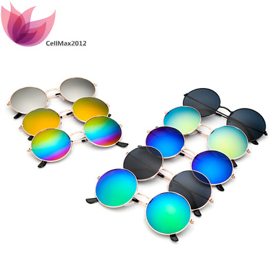Vintage Retro Mirror Round Circle SUN Glasses Goggles Steampunk Punk Sunglasses