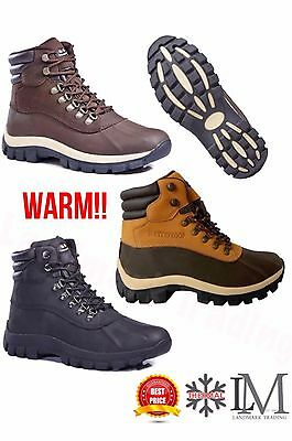 Free Shipping+ Free Socks Men's Winter Snow Boots Work Boots Leather Waterproof
