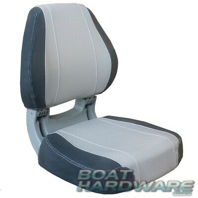 Oceansouth Sirocco Folding BOAT SEAT Charcoal Grey Padded Contoured UV Resistant