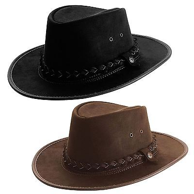 B.C.H 'Bac Pac' Waterproof Western Hat Brown