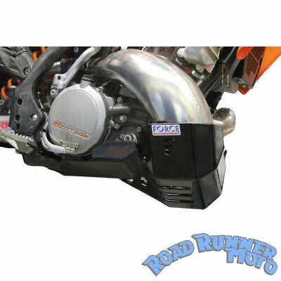 Force bash plate with Pipe guard Black KTM 250 300 EXC 2st 2008-2011 Bashplate