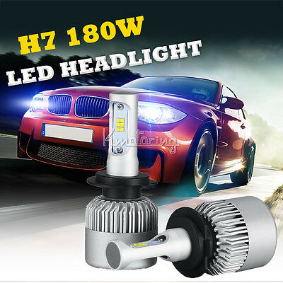 H7 180W 18000LM PHILIPS LED Headlight KIT Single Beam Replace Halogen Xenon HID