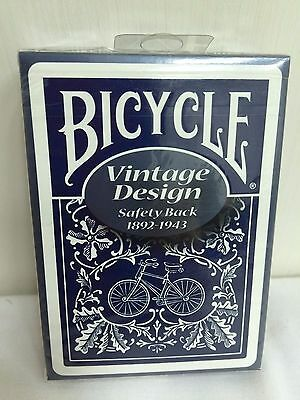 1 Deck Bicycle Vintage Design SAFETY Back Playing Cards Ohio-Made S103415