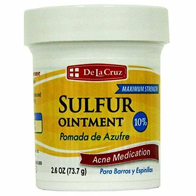 New Max Strength 10% Sulphur Ointment Sulfur Cream Acne Blackhead Spot Cyst Zit