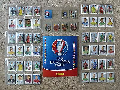 PICK x 20 STICKERS for just £2 - 624 PLAYER NUMBERS IN STOCK -PANINI EURO 2016-a