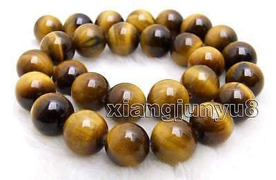 """SALE AA 14mm Round yellow natural tiger's-eye gemstone Beads strand-15"""" -los701"""