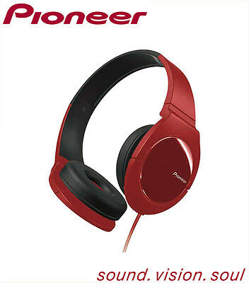 Pioneer SE-MJ721 two-toned exterior fully Enclosed Dynamic Bass headphones - Red