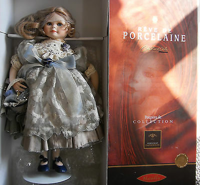 "20""  Mundia French Porcelain Collectors Doll  ""beatrice""  1999 Catalogue Nib"