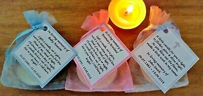 Funeral Personalised Remembrance & any occasion candle favours. Light in memory
