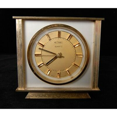 Vintage Retro Metamec Battery Operated Mantel Clock