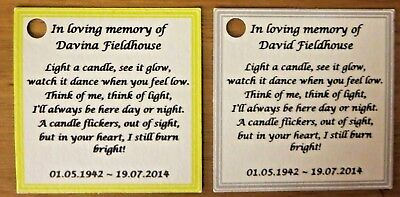 Funeral, Remembrance, Memorial  - Personalised Tags ** Labels ** Favour Tags