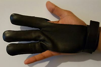 Archery 3 Finger Leather Glove,protective Glove