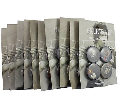 10 x Bruce Lee The Dragon 38mm Badge Set New Official Merchandise
