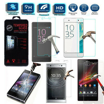 100% Genuine Real Tempered Strong Glass Touch Screen Protector For Sony Xperia