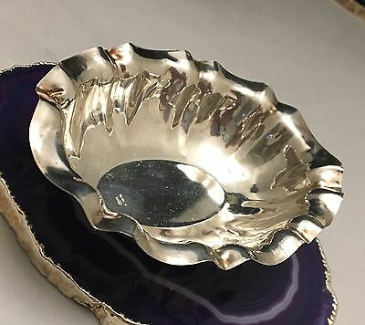 BEAUTIFUL Sterling Silver Bonbon Dish/Sugar Bowl/Coin Tray/Vide Poche ITALY-L319