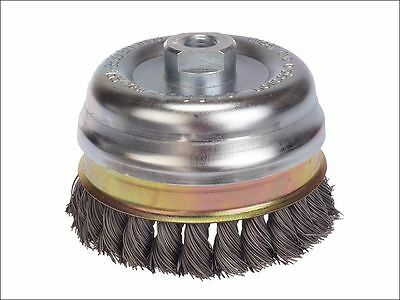 Lessmann - Knot Cup Brush 65mm M14 x 20 x 0.50 Stainless Steel Wire