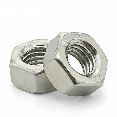 A2 304 Stainless Steel Hex Full Nuts DIN934 M1.6 M2 M3 M4 M5 M6 M8 M10 M12-M30