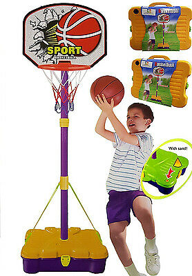 Junior Portable Free Standing Basketball Set with Carry Case Kids Children Play
