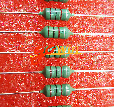 50PCS 1MH 102K 1/2W Axial RF Choke Coil Inductor 0410 Color Ring Inductance