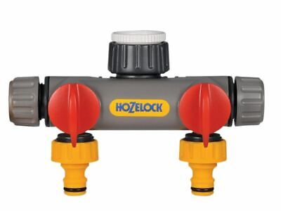 Hozelock - Two Way Tap Connector 1/2 - 1in BSP