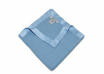 100% Cashmere Baby Blanket Blue, 2/26 Yarn Composition 2 PLY Cashmere Soft Throw
