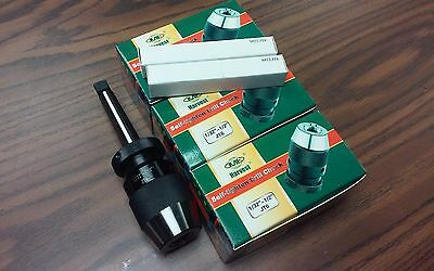 "CME/HARVEST 1/2"" Keyless  DRILL CHUCK w. MT2 arbor,heavy duty DCK1/2 $38.00/each"