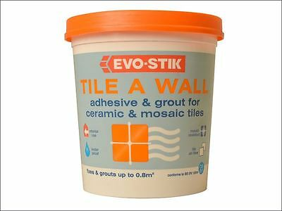 Evo-Stik - Tile a Wall Adhesive & Grout for Ceramic & Mosaic Tiles  1 Litre