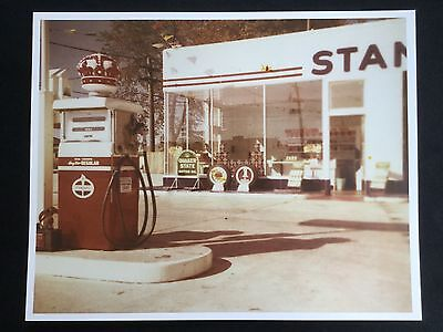 Vintage 1950s Standard Red Crown Gasoline Service Gas Oil Station Photo Print