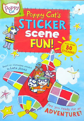 Poppy Cat's Sticker Scene Fun children's book new
