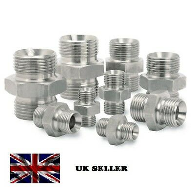 Bsp Male X Bsp Male Hydraulic Adapter Fitting Oil Air Water Connector Nipple