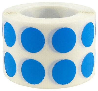 Circle Dot Stickers, 1/2 Inch Round, 1000 Labels on a Roll, 53 Color Choices