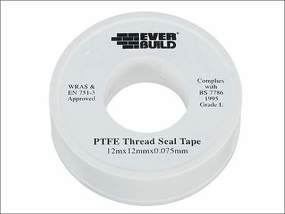 Everbuild - P.T.F.E Tape 12mm x 12m - Water