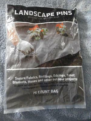 "Brand New Bag Of 75 Landscaping Pins (4"")"