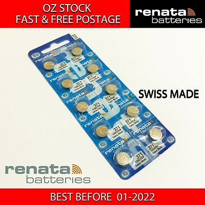 10x RENATA SR920SW 371 1.55v Button Coin Cell Silver Oxide Battery SWISS MADE