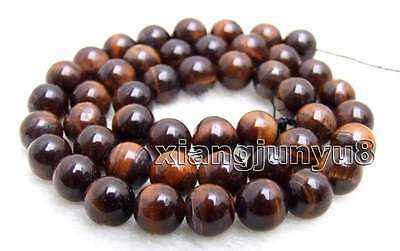 SALE small 8mm Round Red natural tiger's-eye gemstone Beads strand-los696