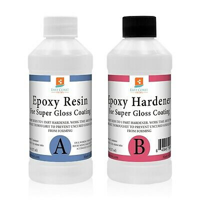 EPOXY RESIN 16 oz Kit CRYSTAL CLEAR for Super Gloss Coating and Table Tops