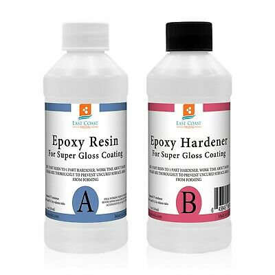 EPOXY RESIN 8 oz Kit CRYSTAL CLEAR for Super Gloss Coating and Table Tops
