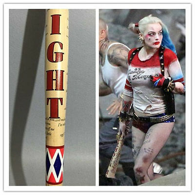 "34"" Harley Quinn Suicide Squad Wooden Baseball bat COS Halloween AMAZING Xmas"
